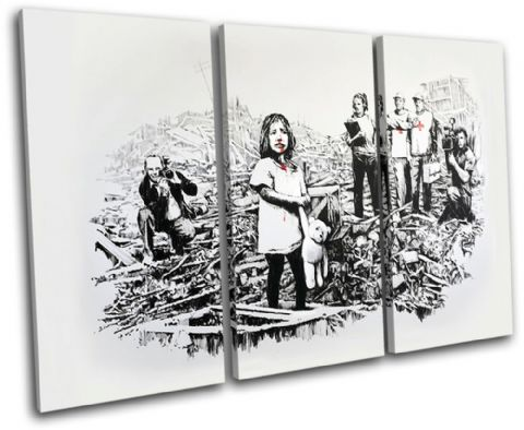 War Media Girl Banksy Painting - 13-1425(00B)-TR32-LO
